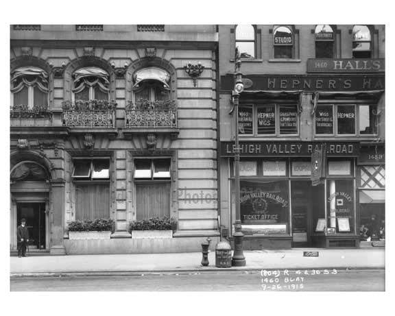 1460  Broadway - between 41st & 42nd Streets  - Theater District - Midtown Manhattan 1915 Old Vintage Photos and Images