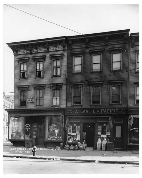 147 - 149 Bushwick Ave Bushwick - Brooklyn , NY  1923 Old Vintage Photos and Images