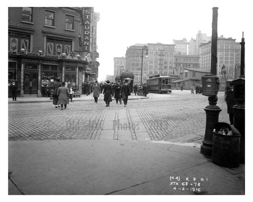14th Street & 4th Avenue - Greenwich Village - Manhattan, NY 1916 G Old Vintage Photos and Images