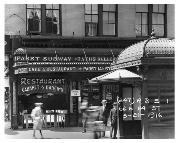 14th Street & 4th Avenue - Greenwich Village - Manhattan, NY 1916 E Old Vintage Photos and Images