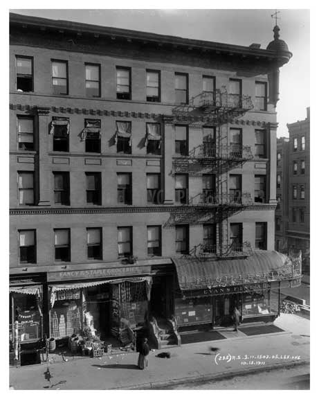 1503 & 1505 Lexington Avenue & 97th Street 1911 - Upper East Side, Manhattan - NYC Old Vintage Photos and Images