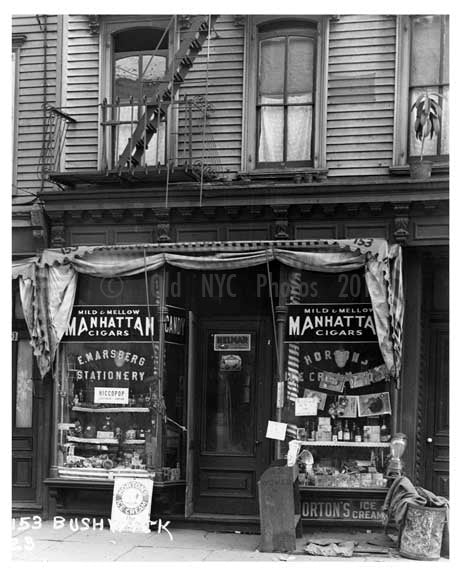151 - 153 Bushwick Ave Bushwick - Brooklyn , NY  1923 Old Vintage Photos and Images