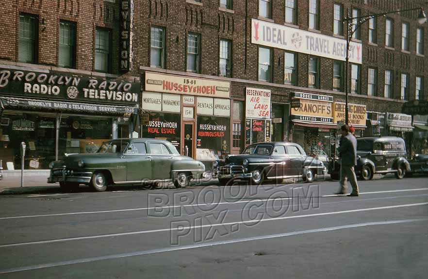 1545 Flatbush Avenue near The Junction, 1950 Old Vintage Photos and Images