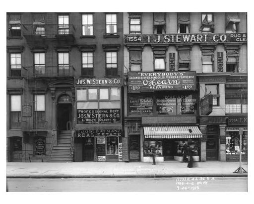 1552 - 1554 - 1556 Broadway - Theater District - Midtown Manhattan 1915 Old Vintage Photos and Images