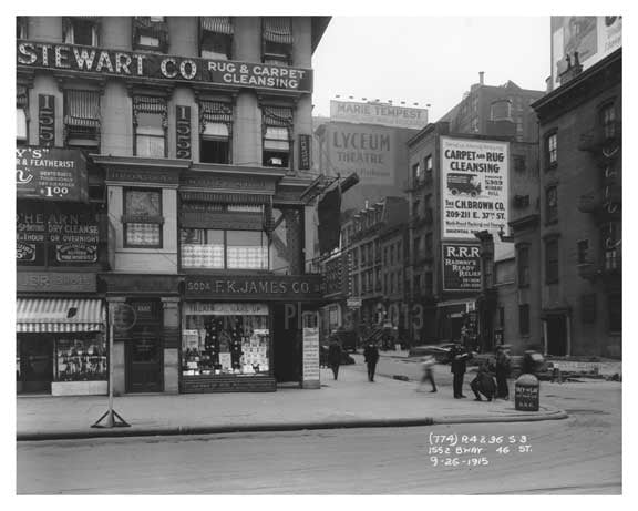 1552  Broadway & 46th Street - Theater District - Midtown Manhattan 1915 Old Vintage Photos and Images