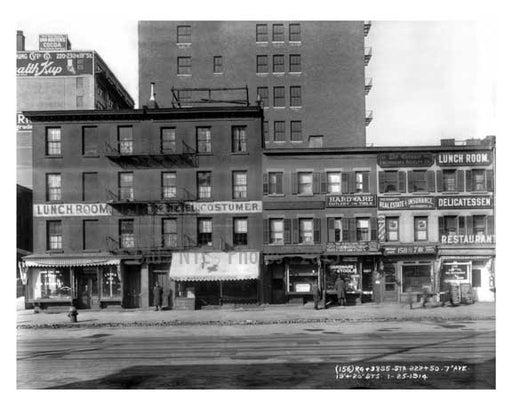 158 7th Ave between 19th & 20th Streets - Chelsea  NY 1915 Old Vintage Photos and Images
