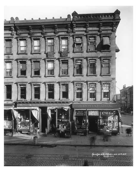 1691 & 1693  Lexington Avenue & 106th Street 1911 - Upper East Side, Manhattan - NYC A Old Vintage Photos and Images