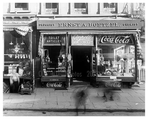 1691 & 1693  Lexington Avenue & 106th Street 1911 - Upper East Side, Manhattan - NYC Old Vintage Photos and Images