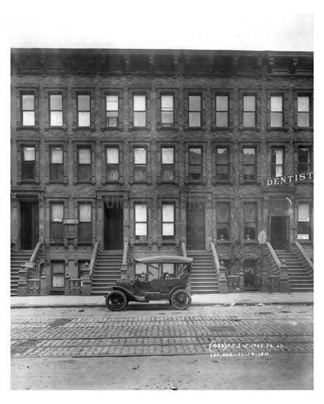 1702, 1704, 1706  Lexington Avenue & 107th Street 1911 - Upper East Side, Manhattan - NYC Old Vintage Photos and Images