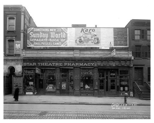 1718 & 1720 Lexington Avenue & 108th Street 1911 - Upper East Side, Manhattan - NYC Old Vintage Photos and Images