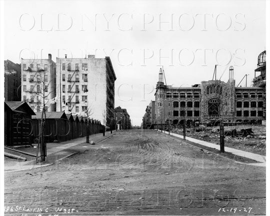 186th St West from Laurel Hill Terrace Manhattan NYC 1927 Old Vintage Photos and Images