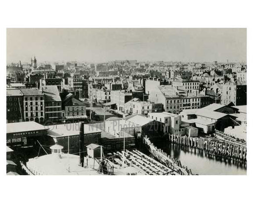 1874 Rooftop view from DUMBO - Brooklyn NYC Old Vintage Photos and Images
