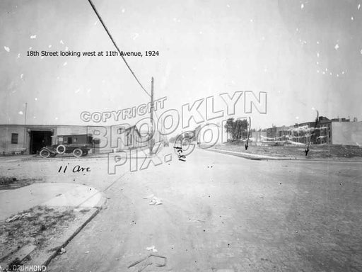 18th Street looking west at 11th Avenue, 1924 Old Vintage Photos and Images