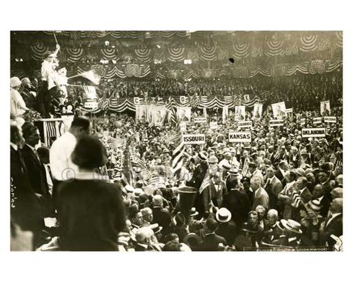 1924 Democratic National Convention at MSG Midtown Manhattan - NYC D Old Vintage Photos and Images