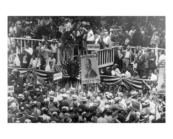 1924 Democratic National Convention at MSG Midtown Manhattan - NYC C Old Vintage Photos and Images