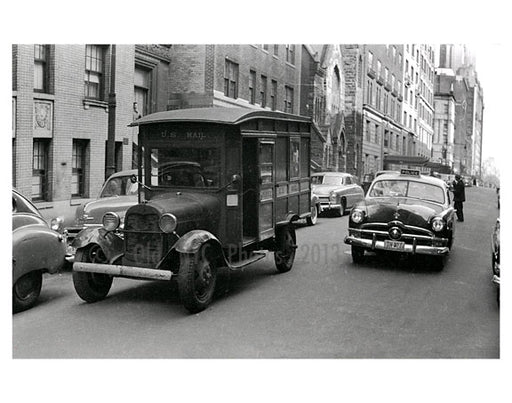 1930s Mail Truck - Jackson Heights - Queens, NY Old Vintage Photos and Images