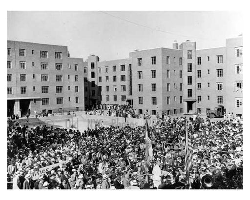 1937 opening of Affordable Housing in Harlem - Manhattan - NYC Old Vintage Photos and Images