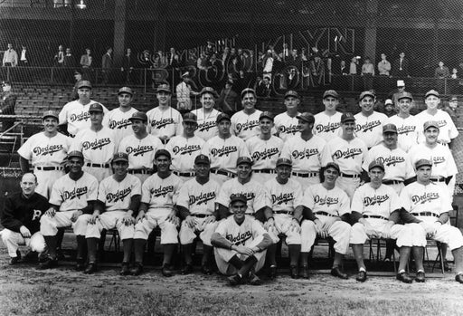 1941 National Champion Brooklyn Dodgers at Ebbets Field, 1941 Old Vintage Photos and Images