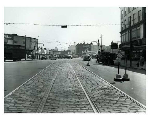 1947 Atlantic & Flatbush looking a little empty - Boerum Hill - Brooklyn NY Old Vintage Photos and Images