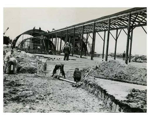 1948 Construction of the Idlewood Airport - Jamaica Queens NYC Old Vintage Photos and Images