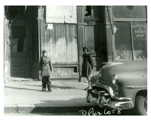 1960 Kids on the sidewalk - Brownsville Brooklyn NY Old Vintage Photos and Images