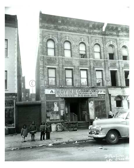 1960 Kids on the sidewalk in front of 280 Stone Ave - Brownsville Brooklyn NY Old Vintage Photos and Images