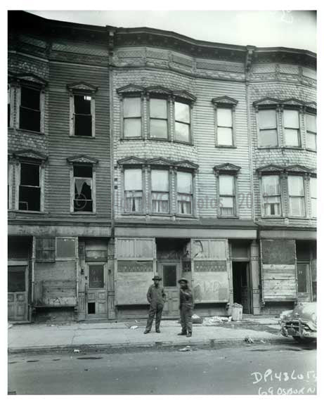 1960 Men taking a stroll 69 Osborn Street - Brownsville Brooklyn NY Old Vintage Photos and Images