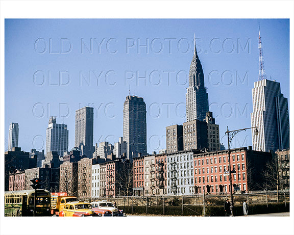 1st Avenue & East 36th Street Murray Hill Manhattan 1948 Old Vintage Photos and Images