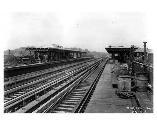 207th Street Station - Inwood - New York, NY 1912 Old Vintage Photos and Images