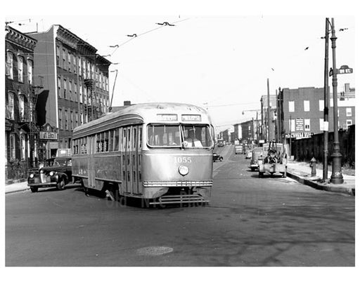 20th St & North 7 - Trolley passing 1950 Old Vintage Photos and Images