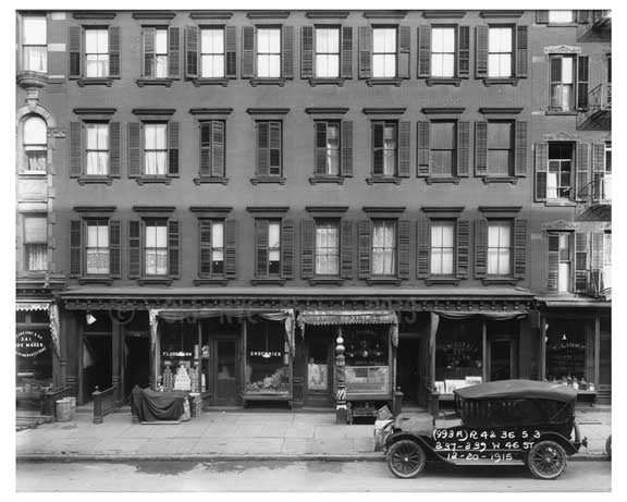 237- 239 46th Street  - Midtown Manhattan - 1915 Old Vintage Photos and Images