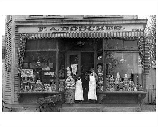 Doscher Grocery Store - Ridgewood Ave Brooklyn East New York - 1910