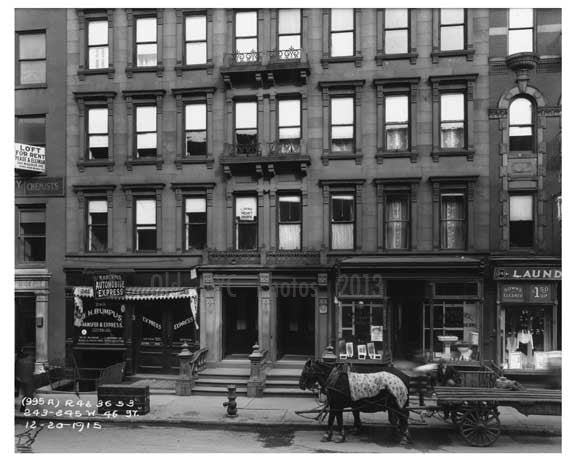 242 - 245 46th Street  - Midtown Manhattan - 1915 Old Vintage Photos and Images