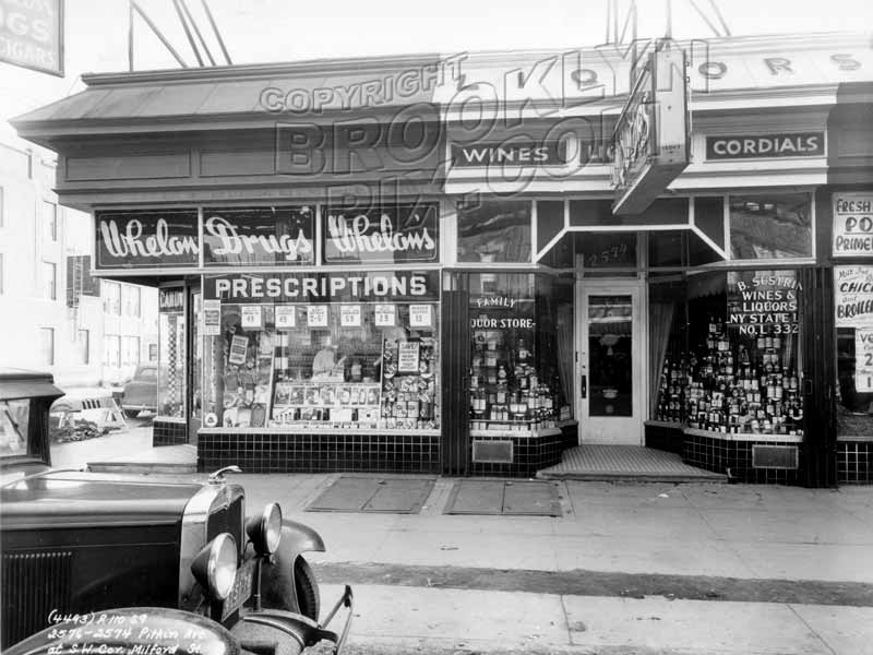 2576 Pitkin Avenue at southwest corner of Milford Street, 1938 Old Vintage Photos and Images