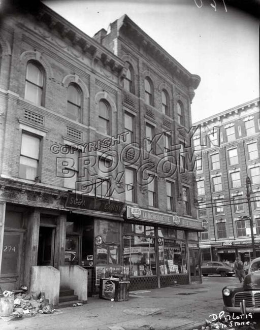 270 Stone Avenue at the southwest corner of Liberty Avenue, 1953 Old Vintage Photos and Images