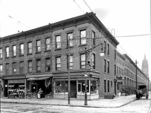 279-283 Smith Street corner of Sackett Street, 1928 Old Vintage Photos and Images