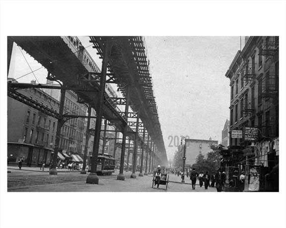 2nd Avenue north to E. 35th Street 1914 - Murray Hill - Manhattan - New York, NY Old Vintage Photos and Images