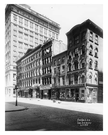306 & 318 Broadway  1912 - Tribeca Downtown Manhattan NYC Old Vintage Photos and Images