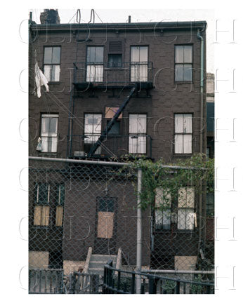 333 18th Street  - The back of the building - Park Slope  - 1970s - Brooklyn NY Old Vintage Photos and Images