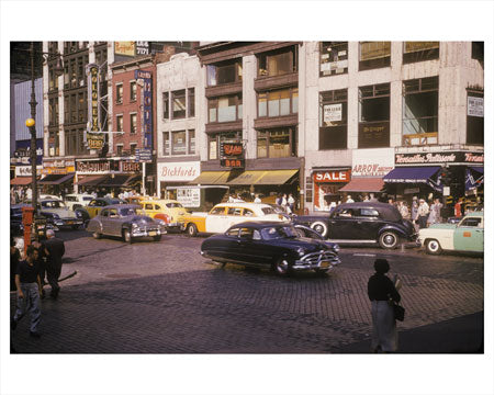 33rd St & Lexington Ave 1958 - Kips Bay - Manhattan - New York, NY Old Vintage Photos and Images