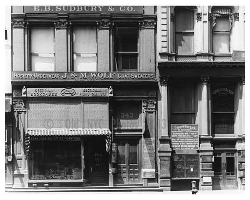 345 Broadway & Catherine Lane 1912 - Tribeca Manhattan NYC Old Vintage Photos and Images