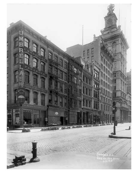 346 to 362 Broadway  1912 - Tribeca Downtown Manhattan NYC Old Vintage Photos and Images