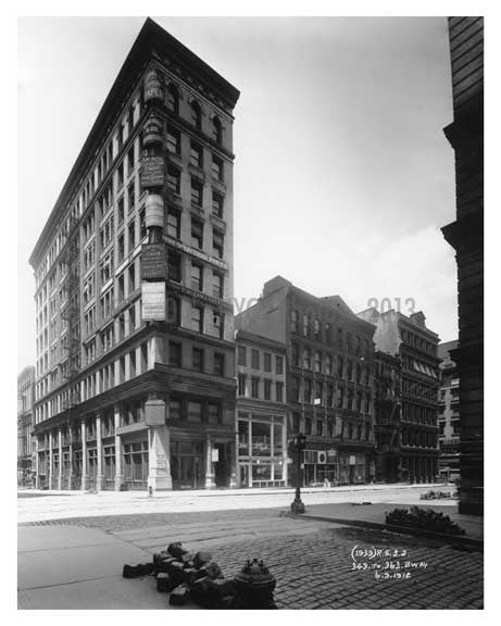 349 to 363 Broadway   1912 - Tribeca Downtown Manhattan NYC Old Vintage Photos and Images