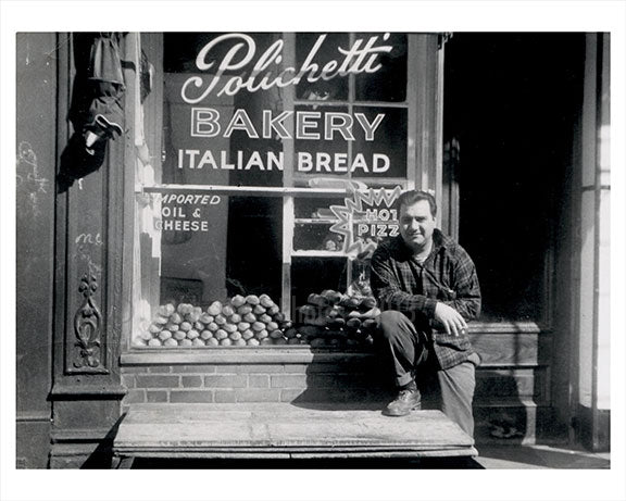 35 Carmine Street 'Polichette' 1958  - Little Italy - Downtown Manhattan - New York, NY Old Vintage Photos and Images
