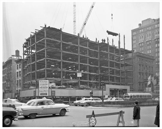 35 Park Avenue & 36th Street Construction - Murray Hill - Manhattan - New York, NY Old Vintage Photos and Images