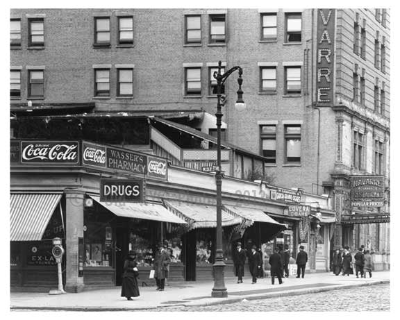 37th & 7th Avenue Diner with a Coca-Cola sign over head 1917 Chelsea NY, NY Old Vintage Photos and Images