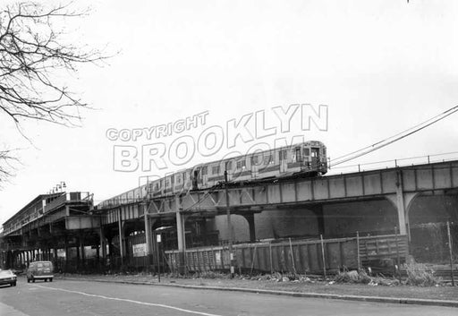 37th Street looking east to Fort Hamilton Parkway station, 1975 Old Vintage Photos and Images