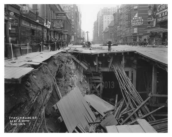 38th Street & Broadway  - Midtown Manhattan 1915 A Old Vintage Photos and Images