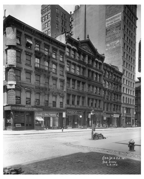 395 Broadway   1912 - Tribeca Downtown Manhattan NYC Old Vintage Photos and Images