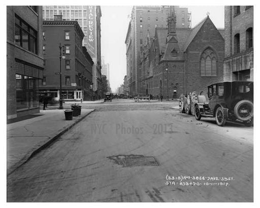 39th Street looking at the 7th Avenue intersection 1917 Chelsea NYC Old Vintage Photos and Images